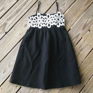 Lilly Pulitzer Empire Waist Black and White Dress